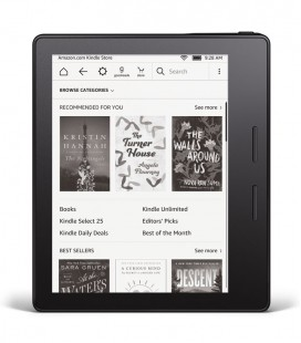 Amazon Kindle Oasis, hnědé pouzdro, bez reklam