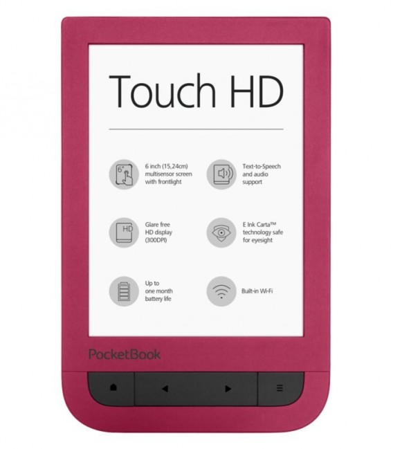 PocketBook 631 Touch HD, červený