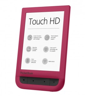 PocketBook 631 Touch HD, červený